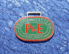 P & E Peoria and Eastern Railway Railroad Train Logo A Classic Issue Watch Fob