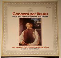 Concerti per Flauto Mancini Sarri Gudrun Heyens Musica Antiqua Köln Archiv