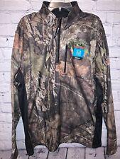 NWT Mossy Oak Performance 1/4 Zip Shirt Break up Country Camo Large XL