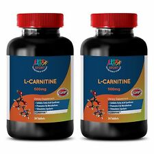 Organic Anti-Aging Fat Burner Tablets - L-Carnitine 500mg - Vitamin B6 50 2B