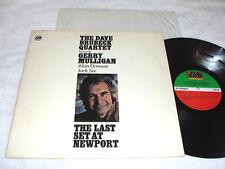 "Dave Brubeck ""The Last Set At Newport"" 1972 Jazz LP, Nice EX!, Original Atlantic"