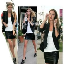 Women Ladies PU Wet Leather Look High Waisted hort Mini Party Skirt Zip JAZZ