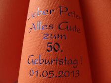 ♥ 50 bedruckte DUNILIN-Servietten mit Namen & Datum & Motiv zum GEBURTSTAG/FEIER