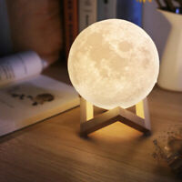 3D USB LED Magical Moon Night Light Moonlight Table Desk Moon Lamp Home Decor Y