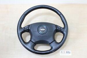JDM Subaru Legacy Liberty BE5 BH5 MOMO Option Black Leather Steering Wheel