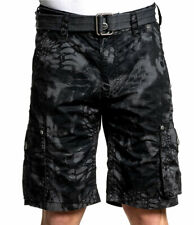 Affliction Black Premium - NOBLE - Men's Cargo Shorts - Charcoal / Black