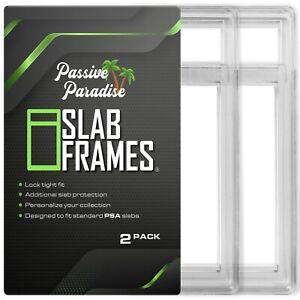 Passive Paradise Slab Frames Protective Case for Standard PSA Slabs-2 Pack-Clear