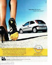 PUBLICITE ADVERTISING 116  2002   Opel   la Corsa Easytronic