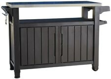 New listing Xl 78 Gal Storage Cabinet Outdoor Patio Kitchen Grill Serving Prep Station Cart