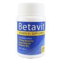 BETAVIT VITAMIN B1 SUPPLEMENT 100 TABLETS ENERGY METABOLISM NUTRIENT BODY HEALTH