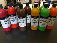 Lot X11 bouteilles 500ml peinture acrylique Phoenix
