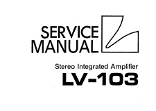 LUXMAN LV-101, LV-103, LV-105U Schematic Service Manual Schaltplan Techniques