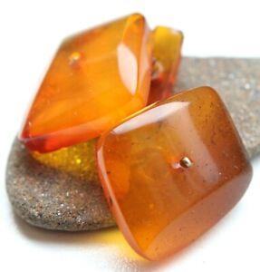 Vintage Amber Baltic Honey Butterscotch Cufflinks 6.9 gram 波羅的海琥珀