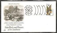 US SC # 1955 State Birds And Flowers ( Arizona ) FDC .Artcraft Cachet