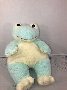 """VGUC-RARE-12"""" Ty PILLOW Pals FROG Baby Green Yellow Plush Rattle Frogbaby Tylon"""