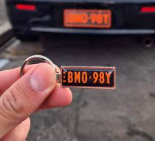 Customized Two-sided Keyring with your License plate number & Name / Car logo 😎