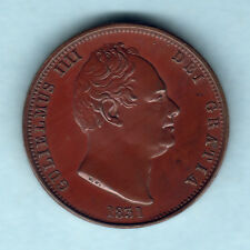 New listing Great Britain. 1831 William 1111 - Halfpenny. Proof. 180 degree Axis.