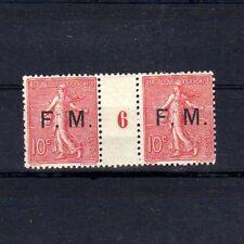 FRANCE Franchise Militaire n° 4 neuf avec charnière - Paire millésime 6