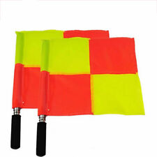 2Pcs Football Linesman Flags Rugby Hockey Train Referee Flag Equipment Np2