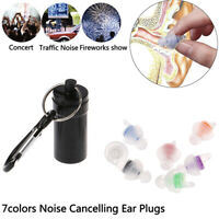 Silicone Noise Cancelling Soft Ear Plugs for Sleeping Concert HearSafe Earplu HO