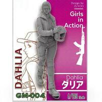 1/35 Dahlia Girls in Action Resin Model Kits Unpainted GK Unassembled