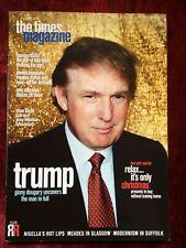 DONALD TRUMP Jamie Bell Jonny Wilkinson TIMES magazine November 2000