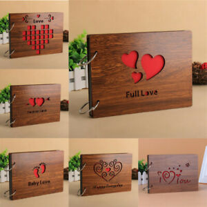 Romant Love Photo Album Hollow Cover DIY Craft Gift Wedding Memorial Photo Album