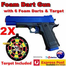 M1911 Pistol Prop Costume Toy Gun With Working Slide Foam Dart Bullets Target