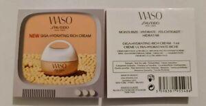 10 x Shiseido Waso Giga-Hydrating Rich Cream 1ml each - 10ml total