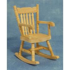 Dolls House Rocking Chair Bare Wood Furniture 1:12 Scale BEF067