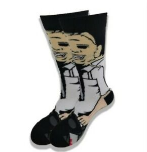 CLASSIC HORROR COLLECTION Leather Face Texas Chainsaw Massacre 360° Crew Socks