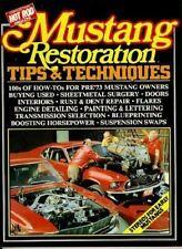 Mustang Restoration Repair Tips Techniques 1965-1970 Book