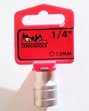 TENG TOOLS 1/4? Llave de vaso 13mm 25671009 acabado satinado m140513-c