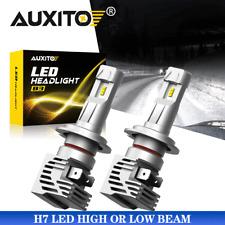 2x AUXITO H7 Bright White 6500K LED High/Low Beam Headlight Bulbs Conversion Kit