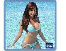 Bud Light Sexy Beer Model In Pool Refrigerator / Tool Box  Magnet