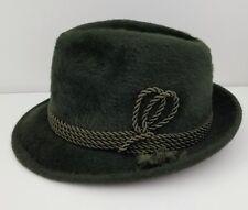 Kandahar Hutmode Reindorph Wien Green Fedora Fur Braid Hat
