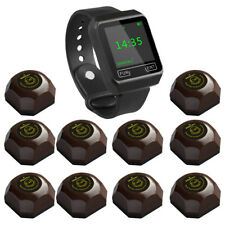 SINGCALL Wireless Coffee Calling System, 1 Watch with 10 Buttons for Hotel Cafe