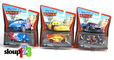 *DISNEY CARS 2 RACERS - MAX SCHNELL, MIGUEL CAMINO & RAOUL CAROULE*
