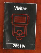 VIVITAR 285 HV FLASH INSTRUCTION BOOK/132509