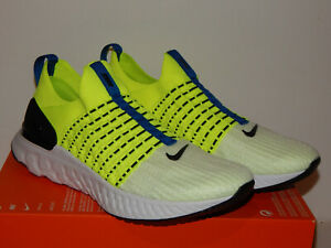 Nike React Phantom Run FK 2 Men's Shoes DM7603-700 Sz 8 10 10.5 or 11 Volt/Black
