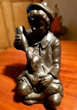 Pre owned antique bronze figurine
