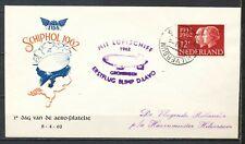 1e DAG VAN DE AEROFILATELIE HILVERSUM 2-V-1962 LUFTSCHIFF BLIMP D-LAVO     Kr762