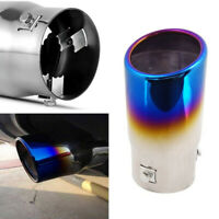 Car Muffler Tip Muffler Stainless Steel Exhaust Pipe Roasted Blue Tail Throat