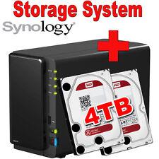 4TB (2x2TB) WD Red Synology Disk Station DS216 Netzwerkspeicher Gigabit NAS USB