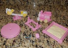 VINTAGE 1997 Barbie Kelly yellow duck Teeter Totter See Saw sandbox train toys