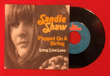 SANDIE SHAW PUPPET ON A STRING LONG LIVE LOVE 45087 VG+ VINYLE 45T SP