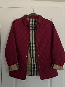 Girls Burberry Pink Nova Check Jacket Size 14Y
