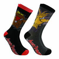 Hyp Nickelodeon Angry Beavers Men's Crew Socks 2 Pair Pack Shoe Size 6-12