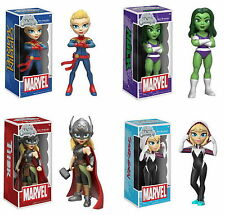 Funko Rock Candy Marvel Figure Spider-Gwen, She-Hulk, Lady Thor, Captain Marvel