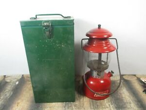 COLEMAN LANTERN 200 RED W / CASE  DATED. 5 - 64  NO RESERVE